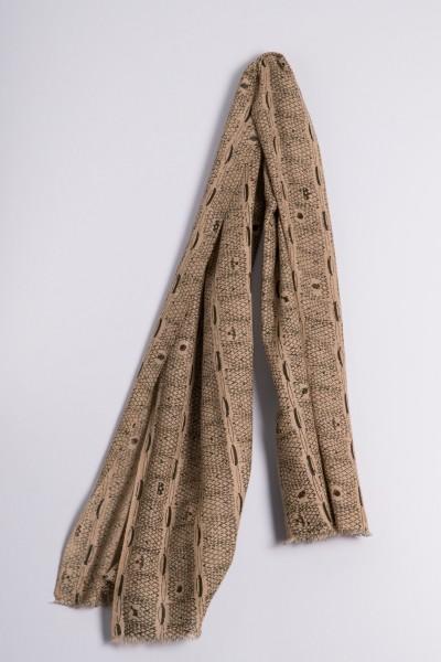 Écharpe côtelée naturel de Francfort cypress green