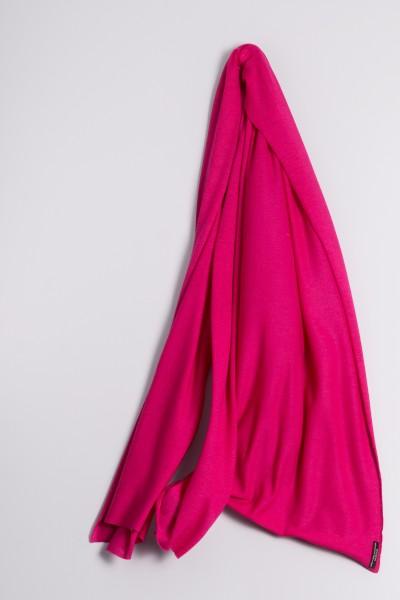 Étole cachemire en tricot fin pink