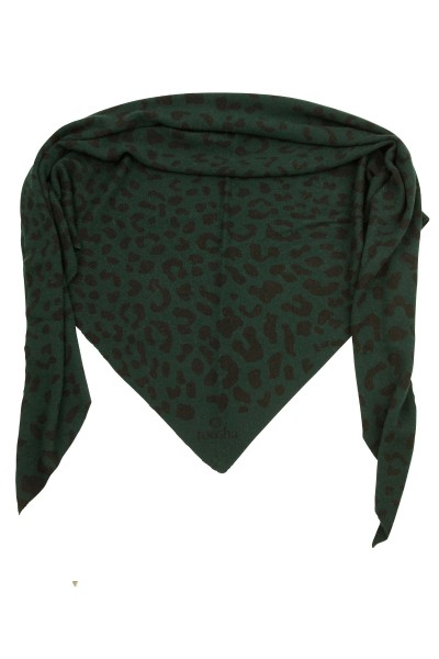 Triangle Feinstrick Leopard rain forest / black