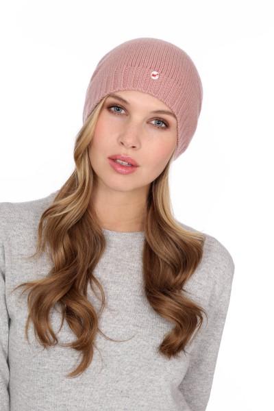 Fine Knit Cashmere Cap cameo rosé