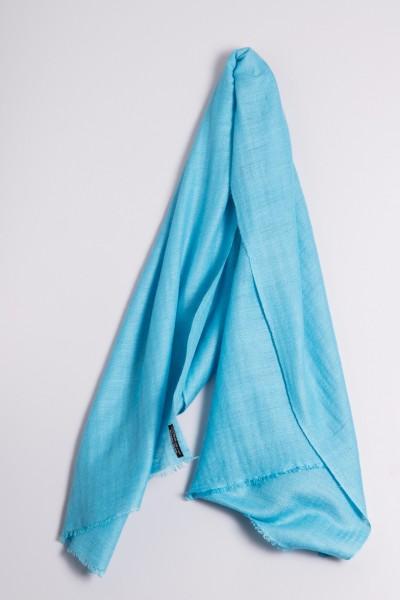 Cachemire écharpe handspun turquoise
