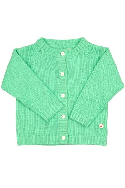 Jersey Cardigan pour bébés en mint