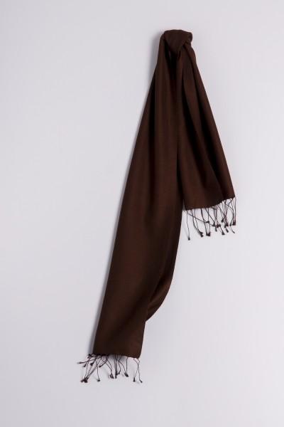 Pashmina 30x150cm marron foncé