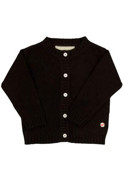 Jersey Cardigan pour bébés en black