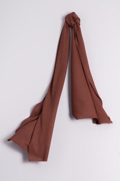Écharpe cachemire en tricot fin mauve