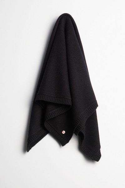 Baby Kaschmirdecke 80x80cm black