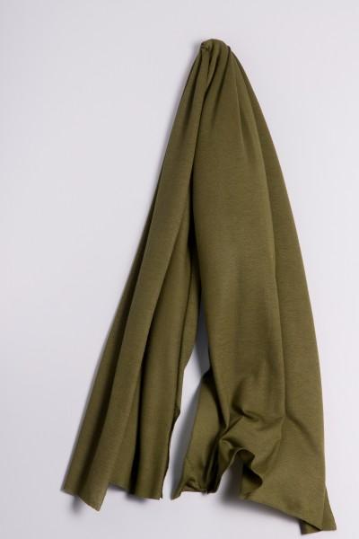 Étole cachemire en tricot fin vert olive