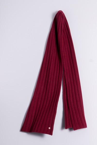 Écharpe en tricot 100% cachemire à 4 couches burgundy