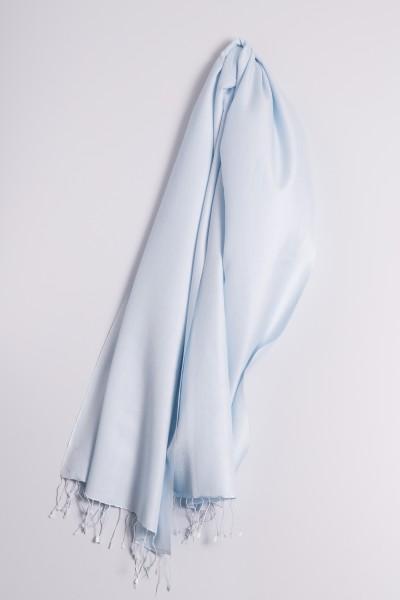 Pashmina 70x200cm bleu clair