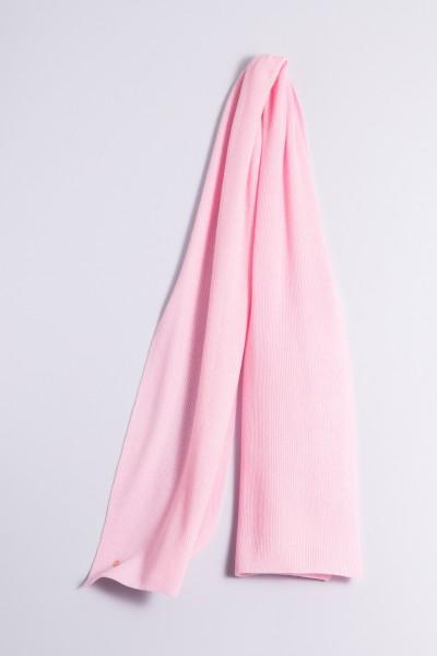 Écharpe cachemire côtelé rose