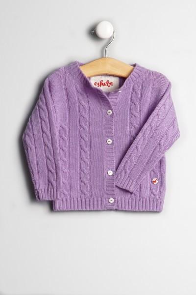 Cardigan pour bébés en lilac