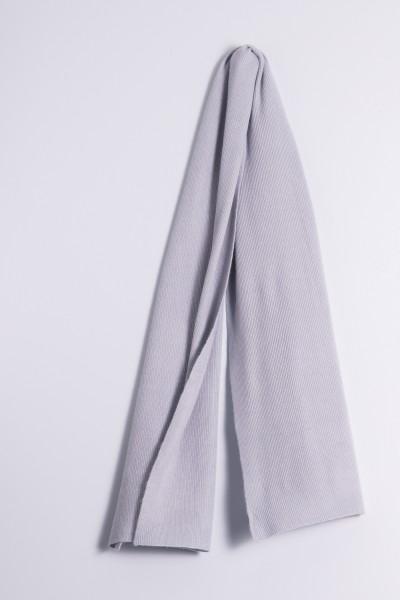 Écharpe cachemire côtelé gris
