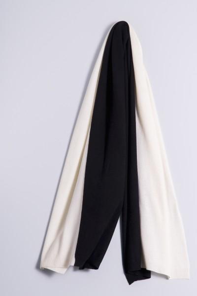 Écharpe en tricot double white/black