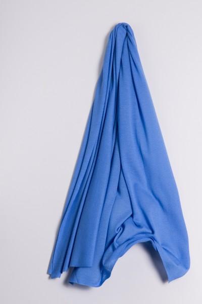 Étole cachemire en tricot fin bleu ciel