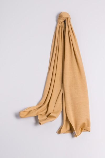 Écharpe cachemire en tricot fin camel