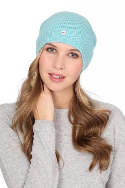 Fine Knit Cashmere Cap turquoise