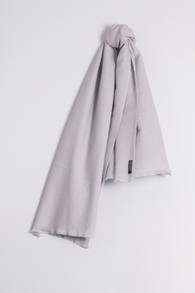 Pashmina 100% cachemire gris