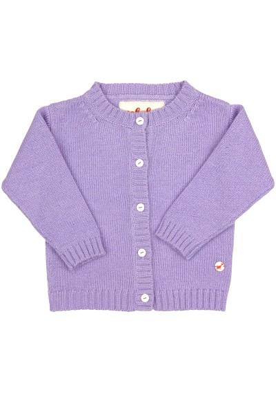 Jersey Cardigan pour bébés en lilac