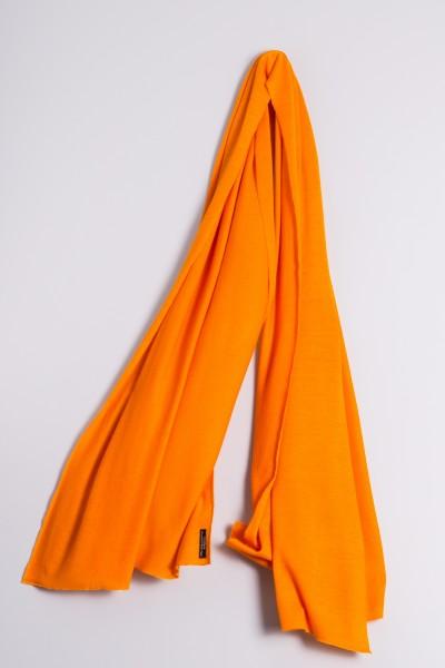 Étole cachemire en tricot fin orange