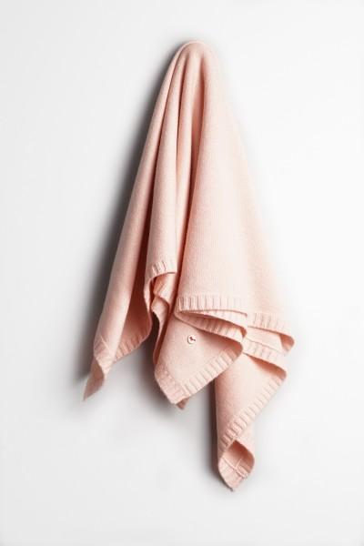 Baby Kaschmirdecke 80x80cm light pink
