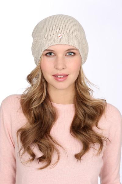 Coarse Knit Cashmere Cap linen
