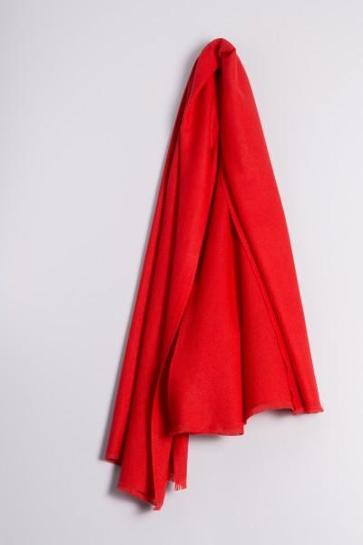 Pashmina 100% cachemire rouge