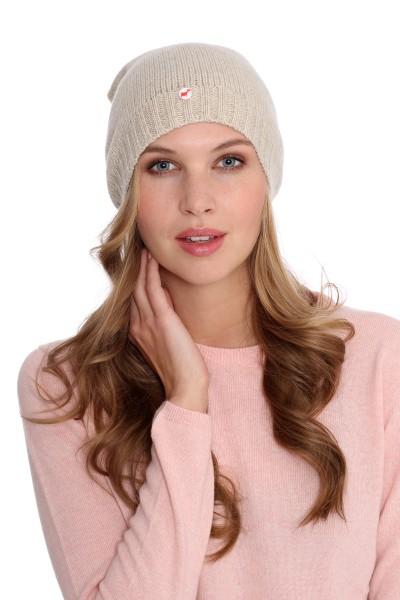 Fine Knit Cashmere Cap linen