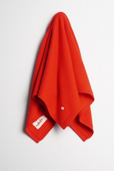 Baby Kaschmirdecke 80x80cm red