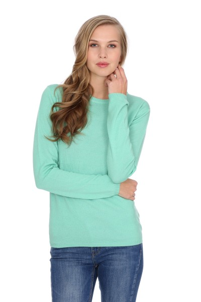 Pull-over en cachemire Round-Neck mint