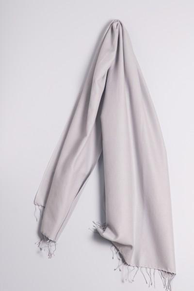 Pashmina 70x200cm gris argenté