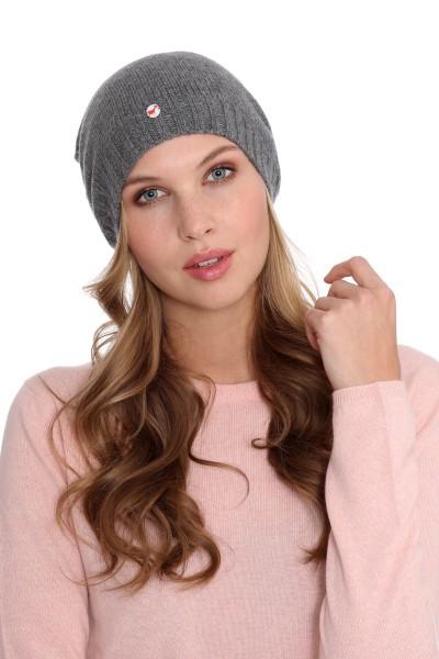 Fine Knit Cashmere Cap derby grey