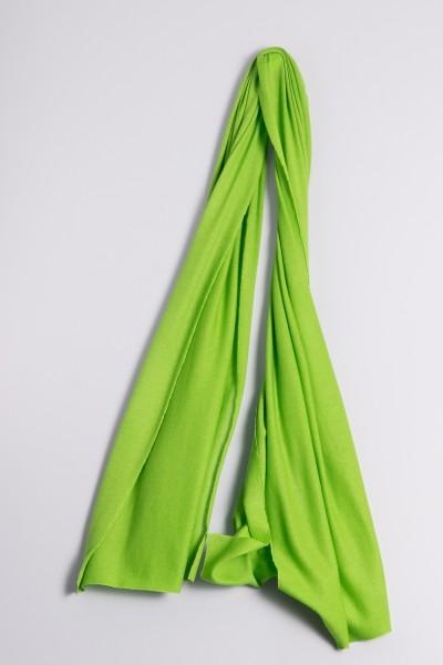 Étole cachemire en tricot fin vert pré