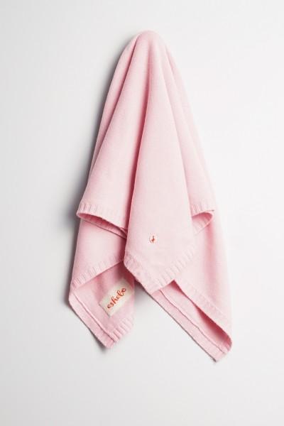 Baby Kaschmirdecke 80x80cm baby pink