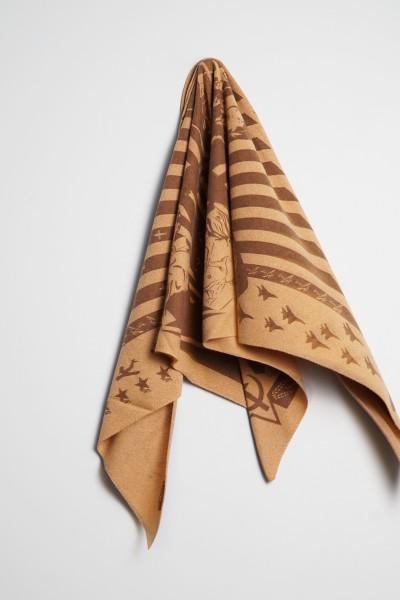 Triangle Strick Sowjet camel melange / chocolate