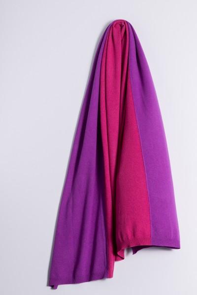 Écharpe en tricot double duchess/raspberry