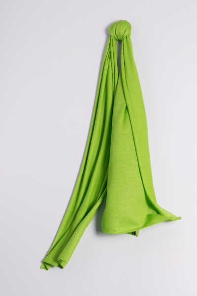 Écharpe cachemire en tricot fin vert pré