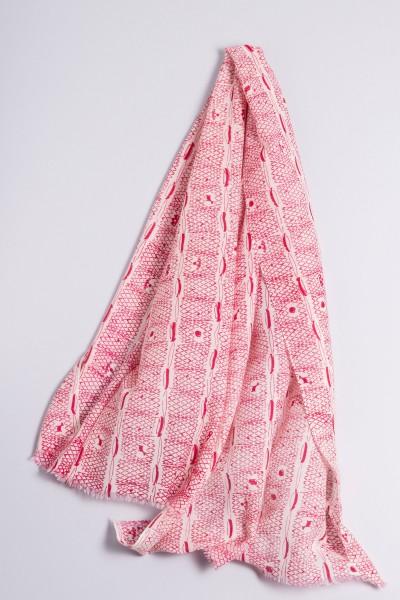 Écharpe côtelée de Francfort beetroot pink