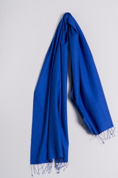 Pashmina 70x200cm bleu roi