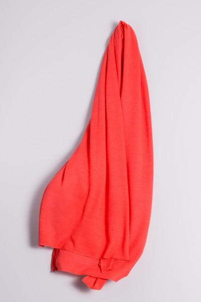 Étole cachemire en tricot fin corail