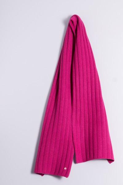 Écharpe en tricot 100% cachemire à 4 couches raspberry