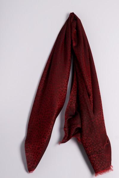 Water-Pashmina Leopard tango rouge