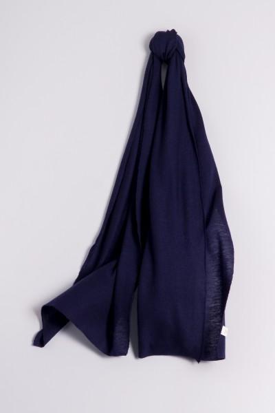 Écharpe cachemire en tricot fin marine