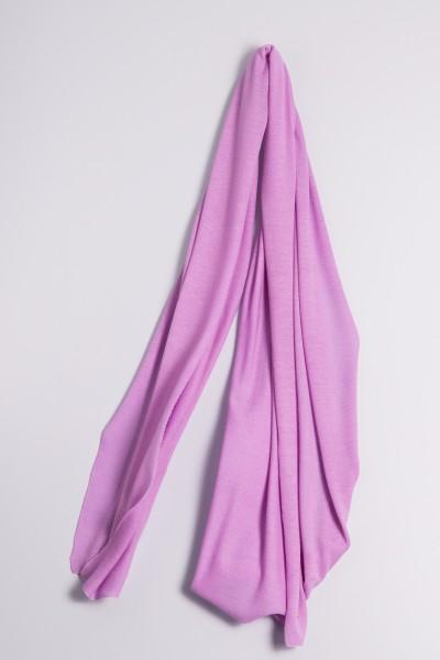 Étole cachemire en tricot fin lilas clair