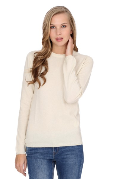 Pull-over en cachemire Round-Neck offwhite