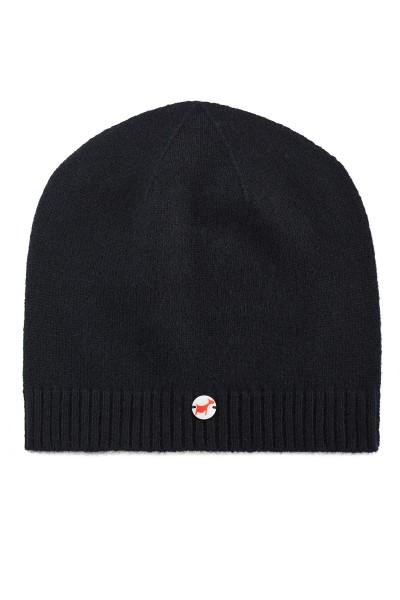 Kaschmirmütze Feinstrick black