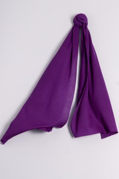 Écharpe cachemire en tricot fin lilas