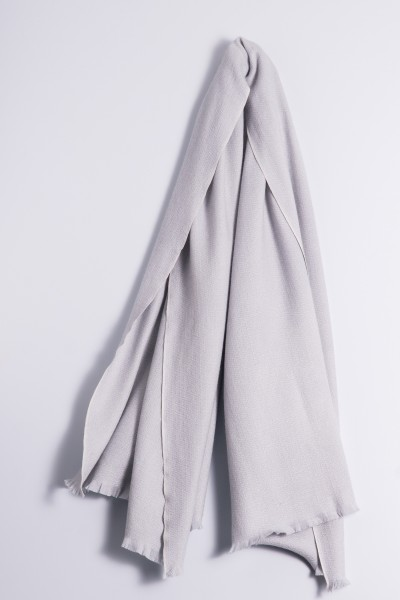 Étole d´hiver 100% cachemire gris argenté