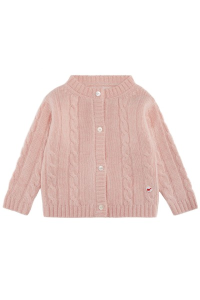 Cardigan pour bébés en baby pink