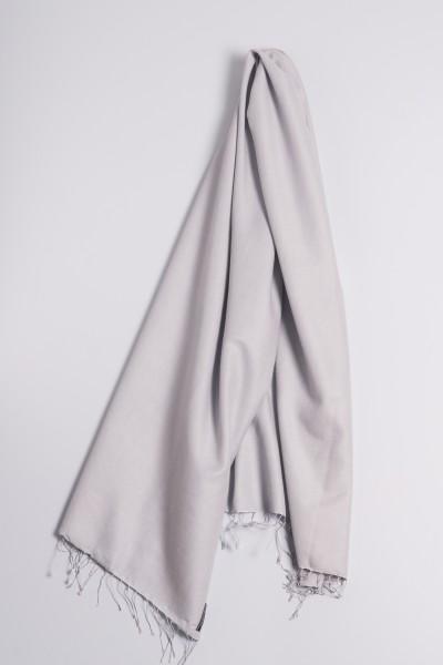 Pashmina 90x200cm gris argenté