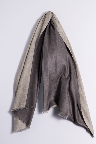 Pashmina Double charcoal/light grey